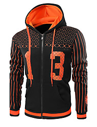 cheap -Men's Daily Sports Hoodie Print Letter Hooded Micro-elastic Cotton Long Sleeve Winter Fall