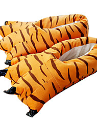 Kigurumi Slippers Tiger Costume Onesie Pajama Orange Polyester Cotton Cosplay For Adults' Animal Sleepwear Festival / Holiday Cute Paw Free Size