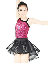 cheap -Jazz Leotards Outfits Women's Children's Performance Elastic Lycra Paillette Sleeveless Natural Skirts Leotard Headpieces