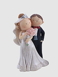 cheap -Cake Topper Fairytale Theme Wedding Sweet Style Simple Style Plastic Wedding Anniversary With Gift Box