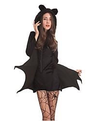 Forme Chauve-Souris Vampire Costumes de Cosplay Bal Masqué Féminin Halloween Carnaval Fête / Célébration Déguisement d'Halloween Noir