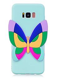 """Custodia Per Samsung Galaxy S8 Plus S8 Fantasia/disegno Fai da te Custodia posteriore Farfalla Fantasia """"Cartone 3D"""" Morbido TPU per S8"""