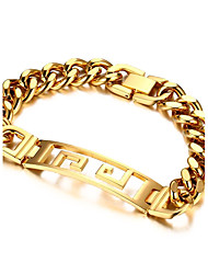 cheap -Men's Women's Chain Bracelet Love Adorable Titanium Steel Square Jewelry Party Gift Costume Jewelry Gold