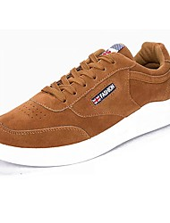 cheap -Men's Shoes Nubuck leather PU Suede Winter Comfort Sneakers Lace-up For Casual Brown Gray Black White