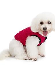 preiswerte -Hund Mäntel Weste Hundekleidung Lässig/Alltäglich warm halten Sport Solide Dunkelblau Rot Grün Kostüm Für Haustiere