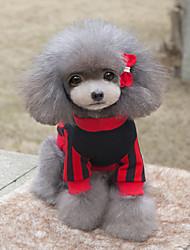 preiswerte -Hund Pullover Hundekleidung Lässig/Alltäglich Buchstabe & Nummer Gelb Rot Kostüm Für Haustiere
