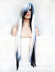 cheap -Women Synthetic Wig Capless Long Straight White With Bangs Party Wig Halloween Wig Costume Wig