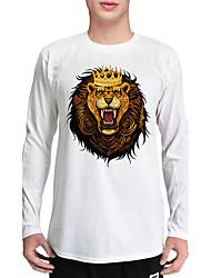 economico -T-shirt Da uomo Sport Casual Semplice Motivo Stile naturalistico Casual Etnico Dolce Di tendenza Autunno,Con stampe Rotonda Cotone Manica