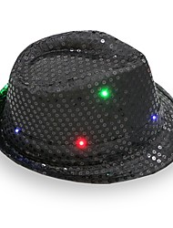 Fedora LED Flashing Sequins Jazz Cap Hip Hop Hat Party Birthday Hats Cap Wedding Halloween