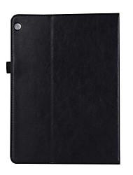 para capa de capa porta-carteira carteira com suporte flip auto sono / despertar corpo completo cor sólida couro duro para huawei m3 10.1