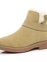 Women's Shoes Fabric Winter Combat Boots Boots Chunky Heel Booties/Ankle Boots For Casual Khaki Almond Black