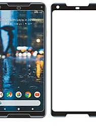 お買い得  -スクリーンプロテクター のために Google Pixel 2 XL 強化ガラス 1枚 スクリーンプロテクター 硬度9H / 傷防止 / 3Dラウンドカットエッジ