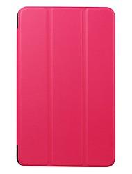 Coque Pour Samsung Galaxy Tab E 8.0 Avec Support Clapet Ultrafine Origami Coque Intégrale Couleur unie Dur Cuir PU pour Tab E 8.0