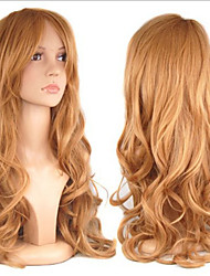 cheap -European Style Fashion Beauty Cosplay Curly Brown Color Synthetic Hair Wig