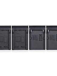 andoer np-fw50 npfw50 np-f970 4 canaux chargeur de batterie appareil photo numérique w / affichage lcd pour sony 7 7r 7sii 7ii 6500 a6300