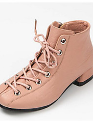 Girls' Shoes Real Leather Fall Winter Comfort Snow Boots Boots For Casual Blushing Pink Brown Black