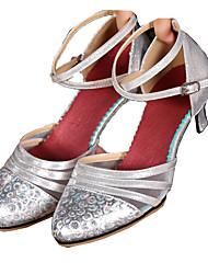 cheap -Women's Modern Synthetic Microfiber PU Net Sneaker Indoor Buckle Low Heel Gold Silver Red Dark Gray