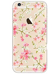 billige -Etui Til iPhone X iPhone 8 Ultratyndt Transparent Mønster Bagcover Blomst Blødt TPU for iPhone X iPhone 8 Plus iPhone 8 iPhone 7 Plus