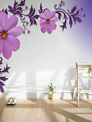 Недорогие -Рисунок 3D Цветы Украшение дома Деревня Облицовка стен, холст материал Клей требуется фреска, Обои для дома