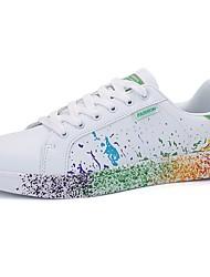 abordables -Femme Chaussures Polyuréthane Printemps / Automne Confort Basket Noir / blanc / Blanc / Bleu / Blanc et vert