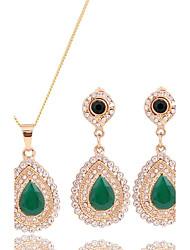cheap -Women's Wedding Party Cubic Zirconia Rhinestone Necklace Earrings