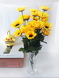 3pcs nouveau style 7 branche / bouquet 7cm fleur-têtes marguerite 30cm fleur artificielle