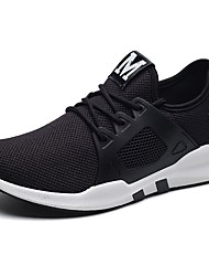 cheap -Men's Shoes Tulle Spring Fall Comfort Athletic Shoes Walking Shoes For Casual Light Grey Dark Grey Black