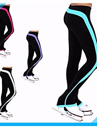 Over The Boot Figure Skating Tights Women's Girls' Ice Skating Pants / Trousers Tracksuit White Purple Fuchsia Sky Blue Stretchy