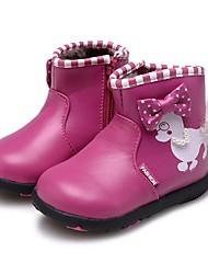 abordables -Chica Zapatos Cuero Invierno Confort Primeros Pasos Botas hasta el Tobillo Zapatos para niña florista Botas Botines/Hasta el Tobillo