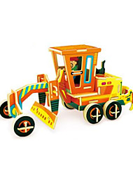 cheap -RUOTAI 3D Puzzles Excavating Machinery Wood Vehicles Motor Grader Gift