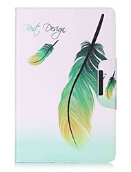 Feathers Pattern Card Holder Wallet with Stand Flip Magnetic PU Leather Case for Samsung GALAXY Tab E 9.6 T560 T561 9.6 inch Tablet PC