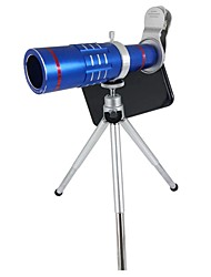 cheap -Orsda® Upgraded Universal HD 18x Zoom Telephoto Telescope Sets Clip-on Camera Lens Kits with Tripod for Smartphones(Blue)