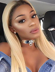 Virgin Brazilian Hair Weft with Closure Straight Hair Extensions Four-piece Suit Black/Bleach Blonde