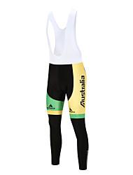 Miloto Cuissard Long de Cyclisme Vélo Collant à Bretelles/Corsaire Bretelles Homme Séchage rapide LYCRA® Cyclisme Automne Hiver Blanc Noir