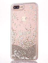 cheap -Case For Apple iPhone 7 iPhone 7 Plus Flowing Liquid Back Cover Glitter Shine Hard PC for iPhone 7 Plus iPhone 7 iPhone 6s Plus iPhone 6