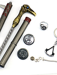 cheap -Weapon Sword Badge Anime Action Figures Inspired by Assassin Edward Elric Anime/ Video Games Cosplay Accessories Rings Armlet Necklace
