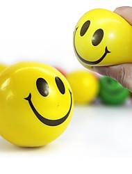 Недорогие -12pcs / set смешные эмози лица сжимают мяч против стресса руки запястье пальца упражнения