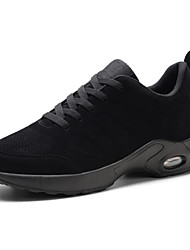 Недорогие -Для мужчин обувь Дерматин Осень Зима Удобная обувь Спортивная обувь Для фитнеса Шнуровка Назначение Атлетический Повседневные Черный