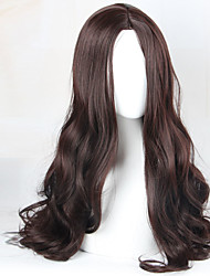 cheap -Women Synthetic Wig Capless Long Wavy Brown Middle Part Cosplay Wig Costume Wig