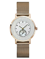 cheap -Men's Women's Chinese Quartz Chronograph Water Resistant / Water Proof Stainless Steel Leather Band Silver Gold Pink Rose Gold