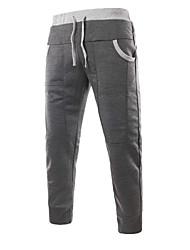 cheap -Men's Mid Rise Micro-elastic Harem Loose Chinos Pants Color Block Fall