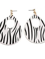 preiswerte -Damen Tropfen-Ohrringe Kreolen Schmuck Modisch individualisiert Leder Kupfer Tropfen Schmuck Für Alltag