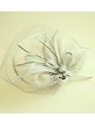 abordables -Lin Filet Fascinators Chapeaux 1 Mariage Occasion spéciale Casque