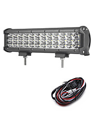 108W 10800LM 6000K 3-Rows LED Work Light Cool White Spot Offroad Driving Light for Car/Boat/Headlight IP68 9-32V  2m 1-To-1 Wiring Harness Kit