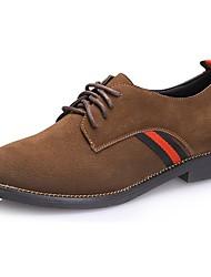 Недорогие -Для женщин Обувь Нубук Замша Осень Зима Удобная обувь Ботинки Заостренный носок Назначение Повседневные Черный Военно-зеленный Хаки
