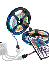 cheap -10M 3528 SMD 2x5M 300 Leds RGB Waterproof Flexible LED Strip Light 44 Key IR Remote For Home Decoration DC12V