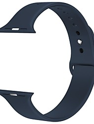 baratos -Silicone Pulseiras de Relógio Alça para Preta 20cm / 7.9 Polegadas 2cm / 0.8 Polegadas