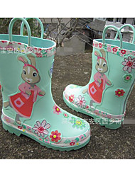 cheap -Girls' Shoes Rubber Spring Fall Rain Boots Boots for Casual Coffee Light Green