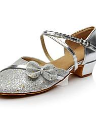 "cheap -Women's Modern Synthetic Customized Materials Heel Indoor Sequin Bow(s) Customized Heel Gold Silver 1"" - 1 3/4"" Customizable"