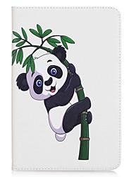 Недорогие -panda и bamboo держатель карточки держателя карточки с подставкой flip магнитный pu кожаный случай для галактики samsung tab 8.0 t350 t355
